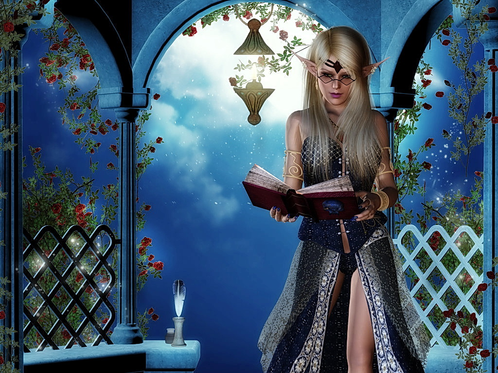 первые картинки фея читает несколько способов