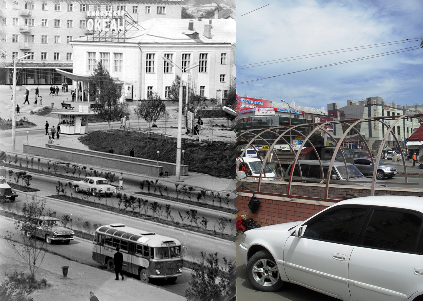 100-летия владивостока проспект 40, быший кинотеатр океан, потом искра, сейчас т.ц. сотка