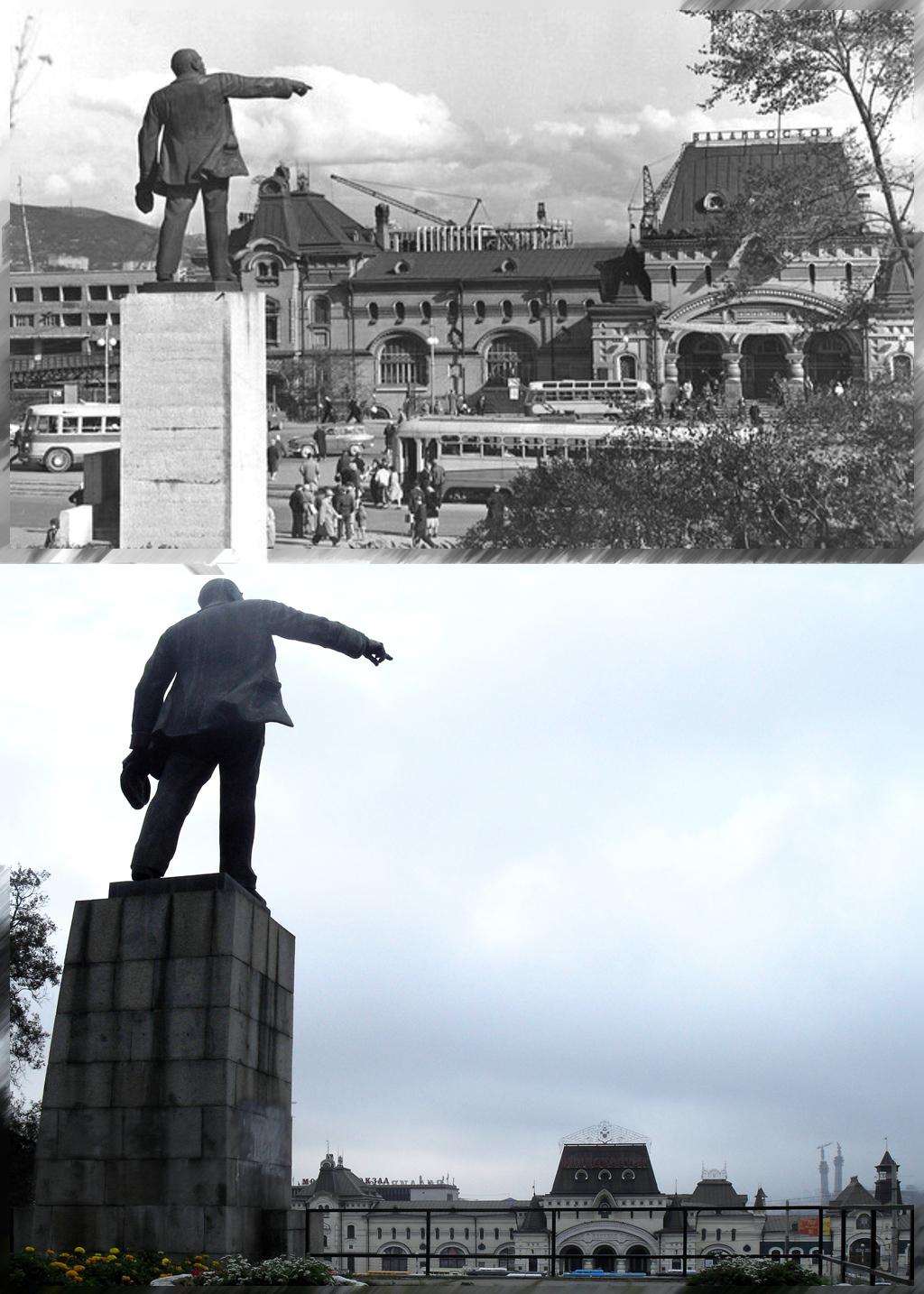 памятник ленину на ж.д.