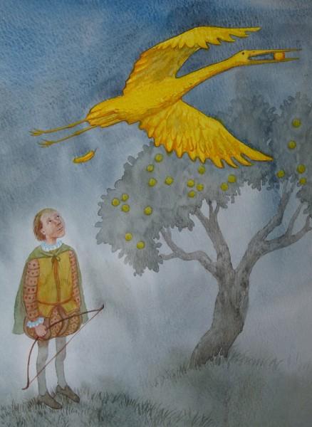 братья гримм золотая птица рисунок