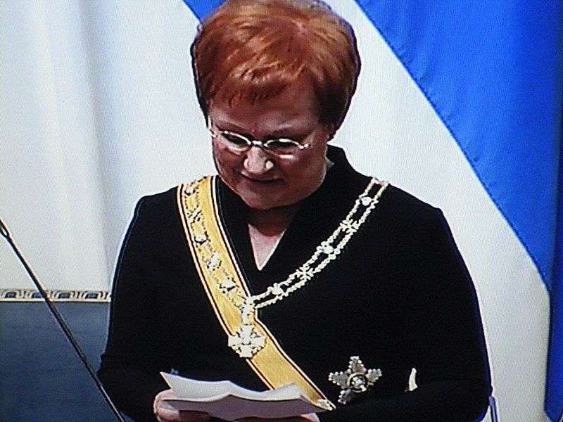 Тарья Халонен складывает полномочия президента страны