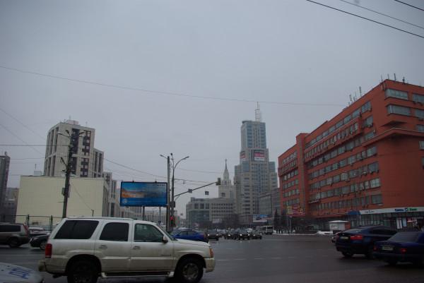 Вид на проспект Сахарова, где был митинг 24 декабря