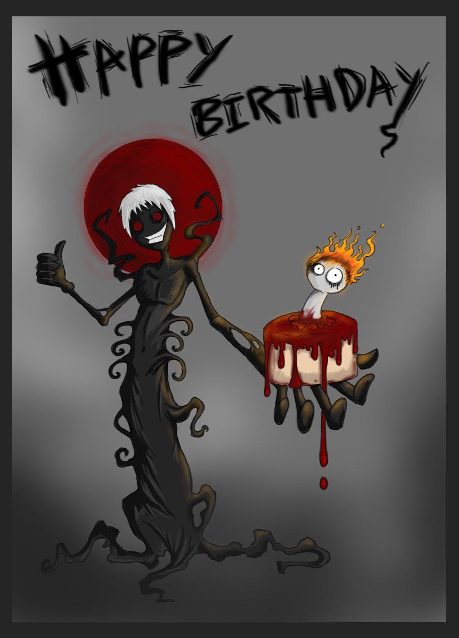 С днем рождения открытка эмо