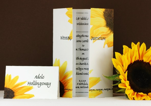 diy-sunflower-wedding-invitations