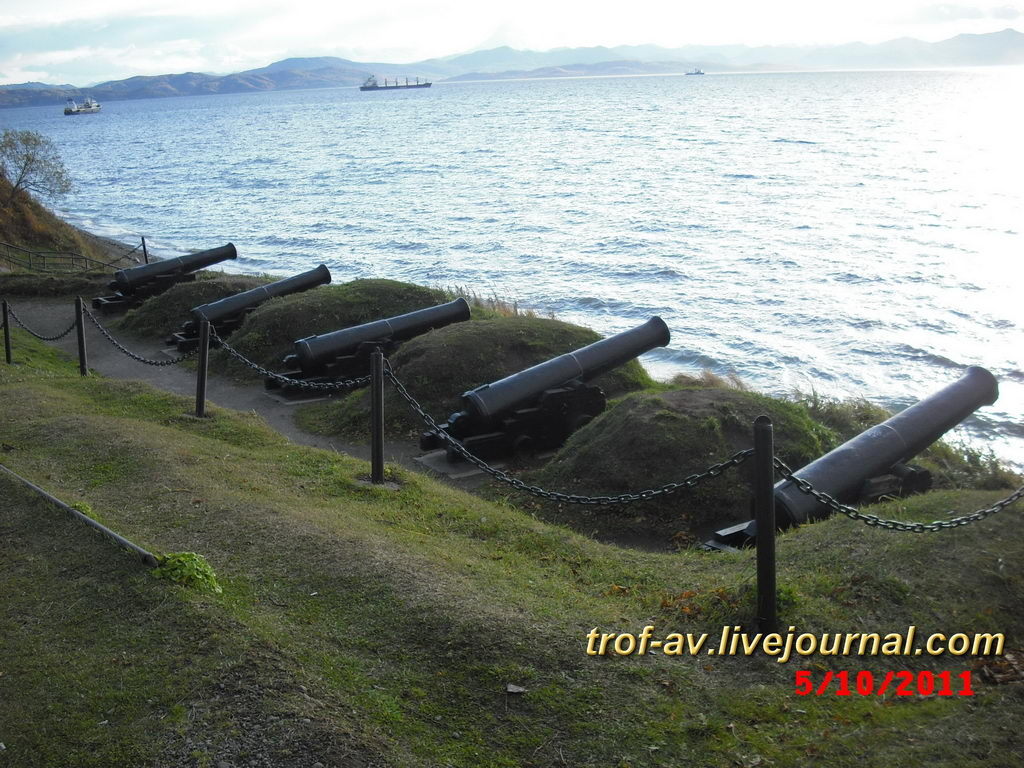 Пушки на месте 3 батареи Максутова, Никольская сопка, Петропавловск-Камчатский